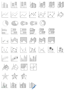 50 graphes Excel pour vos présentations commerciales