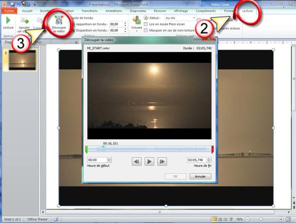 Editer une vidéo dans une présentation de vente Powerpoint