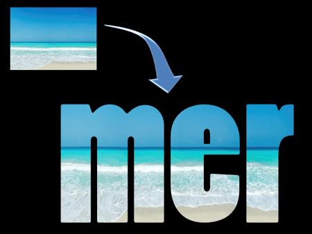 Comment augmenter l'effet visuel de vos présentations commerciales en coloriant un texte avec une image