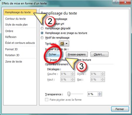 Colorier du texte avec une image dans PowerPoint