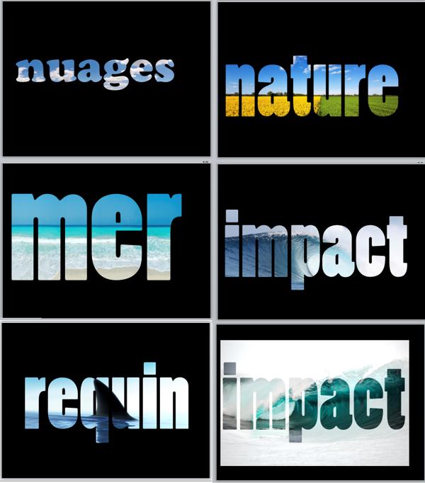 Colorier du texte avec des photos dans les présentations de vente Powerpoint