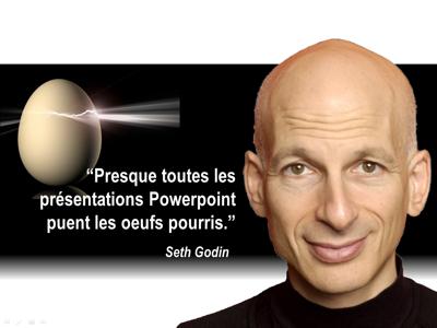 Citation de Seth Godin sur les présentations de vente