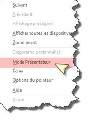 Activer mode presentateur Powerpoint 2013