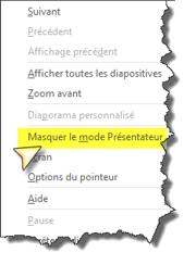 Désactiver mode presentateur Powerpoint 2013