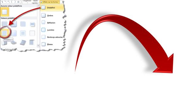 PowerPoint 2010 : Effet prédéfini 5