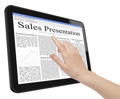 Présentations de vente sur iPAD et tablettes