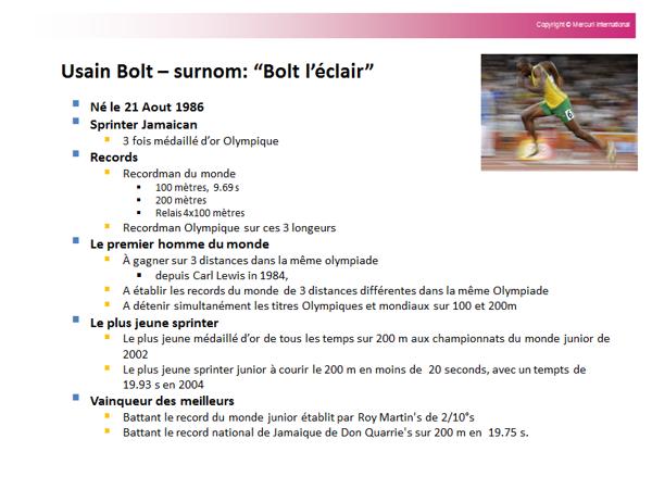 Si les vendeurs présentaient Usain Bolt avec une présentation de vente PowerPoint…