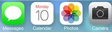 Pictogrammes Apple flat-design
