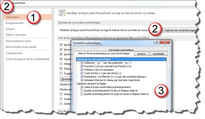 Modifiez les options de mise en forme automatique par défaut de PowerPoint