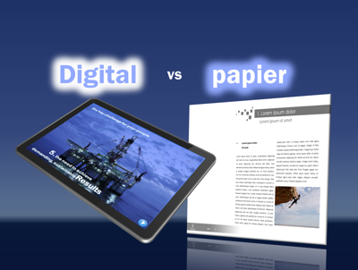 Offre commerciale papier vs digital