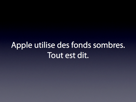Présentation de vente slide-apple-dark-backgrounds-fr